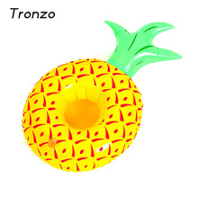 Tronzo Floating Coconut Palm Tree Pineapple Inflatable Can Holder For Drink/Beer/Cup Summer Swimming Bathing Pool Can Party Toys