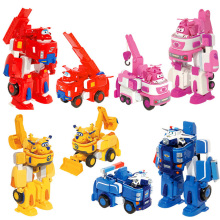 17*11cm Deformation Armor Super wings toy set Rescue Robot Action&Toy Figures Super Wing Transformation Robot Fire Engines Toys(China)