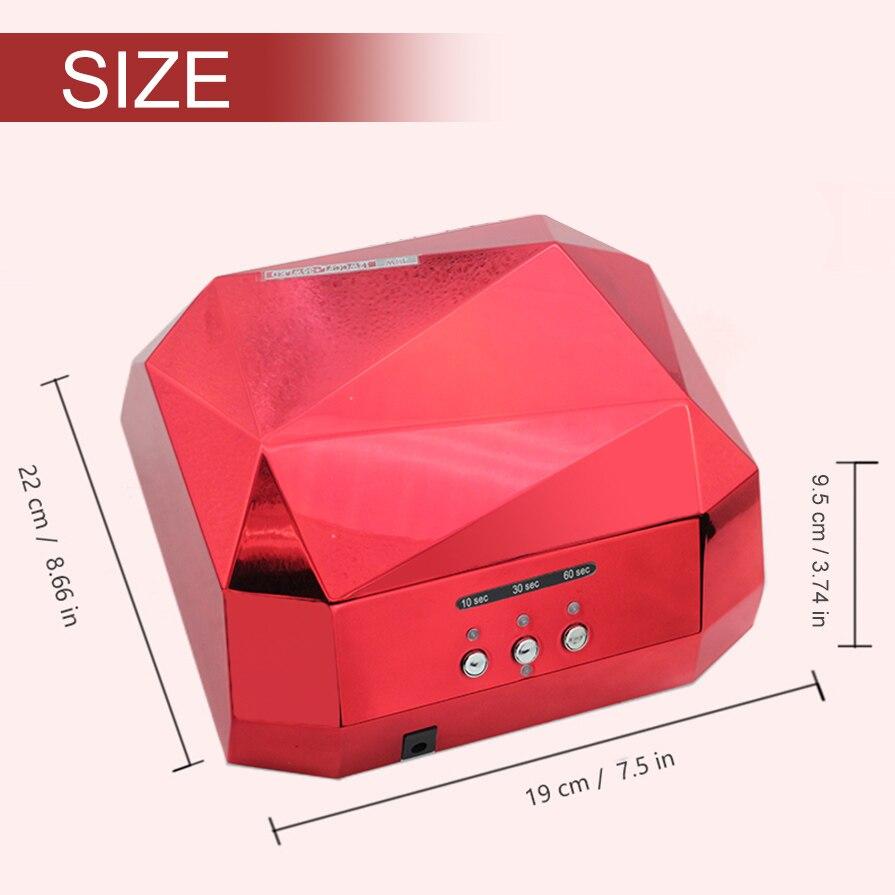 36W LED UV Lamp Nail Dryer Nail Lamp Big Diamond Shaped Long Life 48W LED CCFL Curing for UV Nail Gel Polish Nail Art Tools<br>