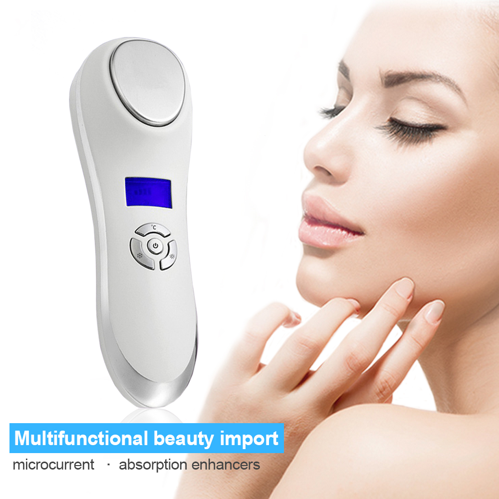 3MH Led Photon Ultrasonic Facial Skin Care Cleaner Anti Aging Wrinkle Remover Beauty Massager<br>