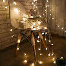 220V 10M 50 Led Lamp Christmas Tree Snow Star String Fairy Lights for outdoor Party Wedding Garden Garland Christmas Decorations