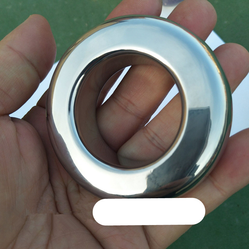 Stainless Steel Scrotum Pendant Penis Cock Ring Chastity Cage Restraint Scrotum Pendant Testicle Ball Stretchers for Men B2-2-96<br>