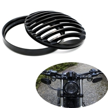 "Motorcycle accessories 5.75"" 5 3/4"" Led Headlights Grill Cover Kit for Harley Sportster 883 XL1200 Iron"