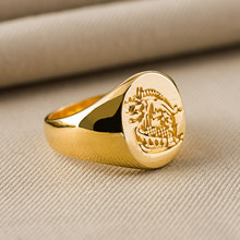 Kingsman The Secret Service Custom Signet Rings For Men Women Alloy Sterling Gold Color Jewelry Free Engraving Drop Shipping(China)