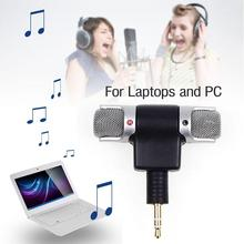 New Mini Stereo Microphone Mic 3.5mm Mini Jack Record Notebook for PC Laptop APE