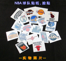 50pcs/lot Basketball Team Mark Stickers Waterproof Temporary Tattoo Paper The Fans Face Stickers Hot Sale(China)