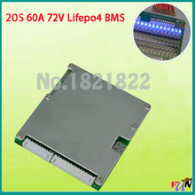 20S 60A bms Lifepo4 60V large high current lifepo4 BMS PCM for electric bike electric car 60a bms(China)