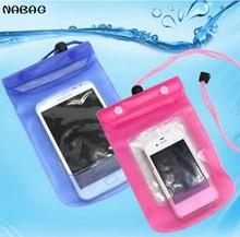 NABAG 1PC Handy Waterproof Dry Pouch Bag Case Cover For Most Cell Phone Underwater Storage Bag Best For Boating Swimming Skiing(China)