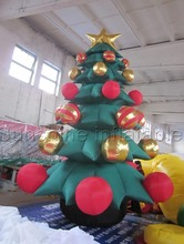 New design hot selling giant inflatable christmas tree with balls for promotion