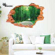 Green Forest Bamboo Wall Sticker Waterproof Stickers Living Room Sofa Background Wall Decoration E(China)