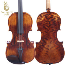 High Grade FineLegend 4/4 Full Size Alcoholic Paint Handmade Professional Violin 10 years Spruce Flamed Maple LCV3114