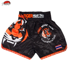 SUOTF MMA Tiger Muay Thai boxing boxing match Sanda training breathable shorts muay thai clothing kickboxing shorts boxing