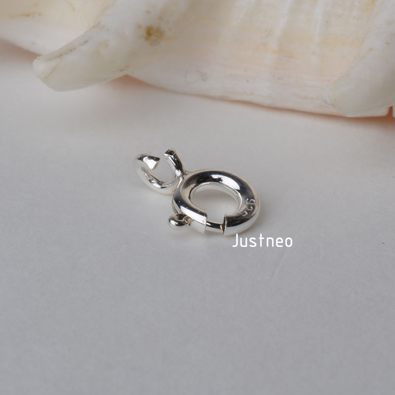 Sterling Silver Spring Ring Clasp (2)