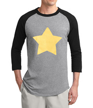 hot sale Steven Universe Star raglan men t-shirt 2017 summer 100% cotton 3/4 sleeve t shirts men fashion brand slim fit tshirt(China)