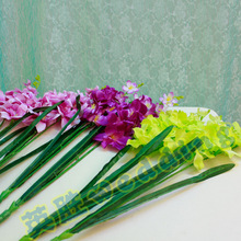 The new road flower simulation silk flower Gladiolus special offer tiaogao Yingsheng wedding props factory direct preferential 6