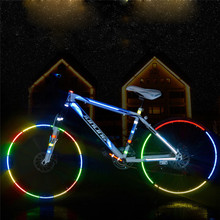 Buy Reflective Stickers Motorcycle Bicycle Reflector Bike Cycling Security Wheel Rim Decal Tape Safer bisiklet aksesuar 2017 strips for $1.38 in AliExpress store
