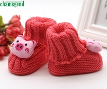 CHAMSGEND baby shoes baby moccasins cute winter autumn Toddler Baby Knitting Lace Crochet Shoes Buckle Handcraft Shoes  H30 SEP5