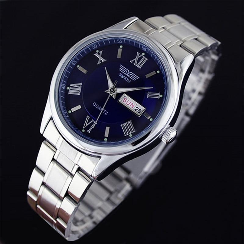 Luxury Sliver Mens Stainless Steel Watches Date Analog Quartz Sport Wrist Watch<br><br>Aliexpress
