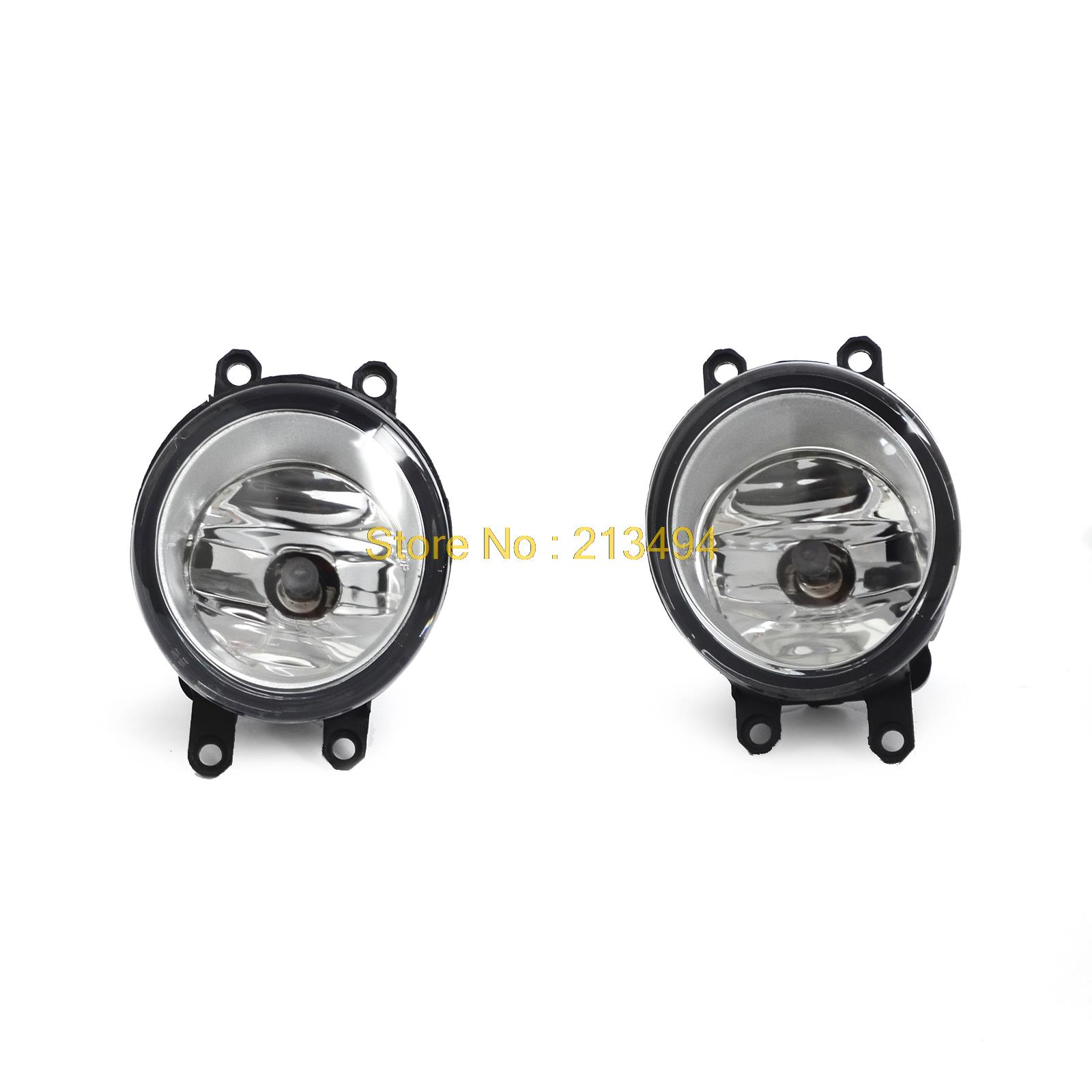 Driver &amp; Passenger Sides Fog Light Lamps with H11 Bulbs For Toyota Lexus Scion<br>