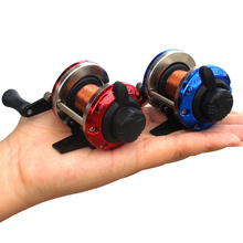 Mini Metal Bait Casting Spinning Boat Ice Fishing Reel Fish Water Wheel Baitcast Roller Coil with 50M Wire ALS88