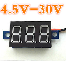 5pcs/lot 0.36 inch Electrical Digital Red LCD Voltmeter  Panel Volt Meter Voltage Testers