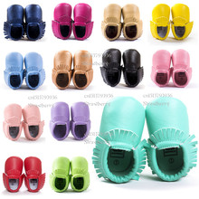 2016 New Fringe tassel Baby Moccasins girls Shoes PU Leather Princess first walkers Slip-on Slip-anti toddler gift for babies