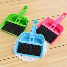 Hot Selling Mini Computer Desk Keyboard Desk Table Brush Dustpan Broom Notebook Car Cleaner 1 x Brush +1 x Dust pan(China)