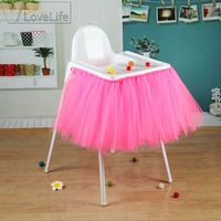 Hot Pink Tutu Skirt Tulle Chair Skirts Baby Shower Birthday Party DIY Decoration Table