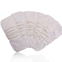 Sunny ju 5 Layers 10 PCS /lot Bamboo Cotton cloth diapers Inserts Nappy changing mat Baby Diapers Reusable diaper changing pad(China)