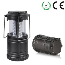 Portable Lantern 30 LEDs Super Bright Camping Light Black/Gray Hand Lamp Outdoor Camping Lantern Waterproof Tent Light