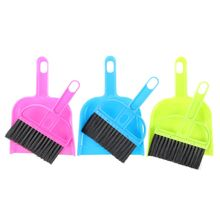 Car Keyboard Cleaning Whisk Broom Dustpan Set 3 Pcs Assorted Color(China)
