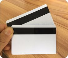 20pcs blank white pvc hico 1 3 magnetic stripe card plastic credit card 30mil magnetic card with printable for card printer - Credit Card Printer