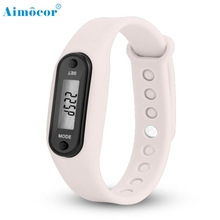 2017New and High Quality Digital LCD Pedometer Run Step Walking Distance Calorie Counter Watch Bracelet Dropship m5224