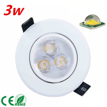 free shipping Dimmable 3W 5W 7W led Ceiling Light spotlight CREE LED downlight  white shell cool warm white light