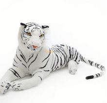 Fancytrader Very Rare 51'' / 130cm Plush Stuffed Giant Soft Emulational White Tiger Toy, Great Gift, Free Shipping FT50170