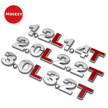 Digital Displacement 3.0 2.0 L T 100% 3D Metal Car Auto Badge Emblem Sticker Truck SUV Van Pick Up Universal Tuning Car Styling