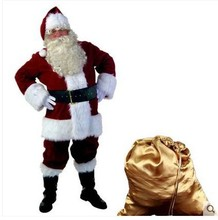 Free shipping christmas costumes santa claus blue red adult wholesale clothing halloween costumes(China)