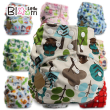 BAMBOO Washable Cloth Nappy Baby Diaper Pocket Nappy Cloth Cover Wrap Reusable Diaper One Size(China)