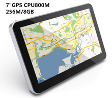 Hotsale 7 inch Touch Screen Car GPS Navigation WINCE6.0 CPU 800M+ 256M/8GB+FM Transmitter+Free latest Maps(China)