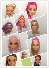 Free Shipping cheap 10pcs/lot Original High Quality Dolls Heads Doll Accessories Heads For barbie doll DIY Heads Girl gifts