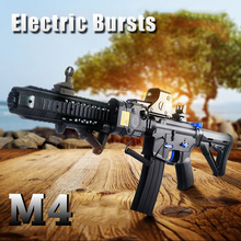 M4 Auto-firing Gel Ball Bullet Toy Guns MAG FED Rifle Nerfie Pistol Crystal Bullet Gun Toys NEFF with Electric Shock Air Gun