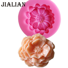 High quality DIY Chrysanthemum Flower Fondant Silicone Molds Candy Moulds Wedding party cake decorating tools T0818