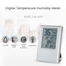 Quality Digital Thermometer Hygrometer Indoor weather station clock Temperature Humidity tester Max Min Value Comfort Level