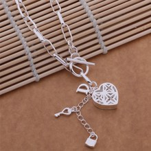925 sterling silver Necklace, 925 silver fashion jewelry  Key necklace /ddgaluna bquakiba AN629