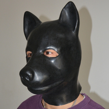 Buy (LS02)Fetish Latex full head latex pig dog cat leopard wolf horse animal head slave mask rubber hood SM Hood suffocate Mask