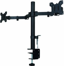 "Suptek Fully Adjustable Dual Arm LCD LED Monitor Desk Mount Stand Bracket for 13""-27"" Screens with 15 degree Tilt(China)"