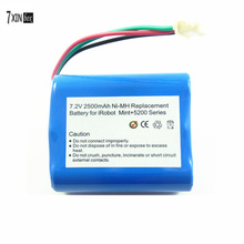 7.2V 2500mAh High quality Replacement Battery For iRobot Mint 5200 5200B 5200C 5000 Braava 380t