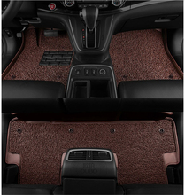 For Honda FIT JAZZ 2008-2013 Floor Mats Foot Carpets Mat Auto Step Mat High Quality New Water Proof leather Wire coil 2 Layer(China)