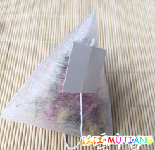100pcs/lot Corn Fiber Tea bags Pyramid Shape Heat Sealing Filter Teabags PLA Biodegraded Tea Filters 5.8*7cm