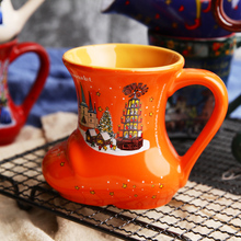 3D Christmas Shoes Cup creative Coffee Milk Mugs ceramic tea cup water glass Breakfast mug For Kids Birthday Christmas gift(China)
